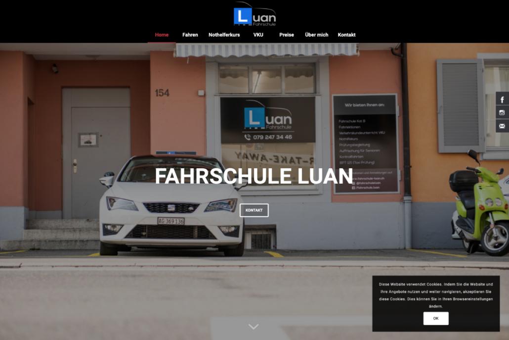 Fahrschule Luan Website